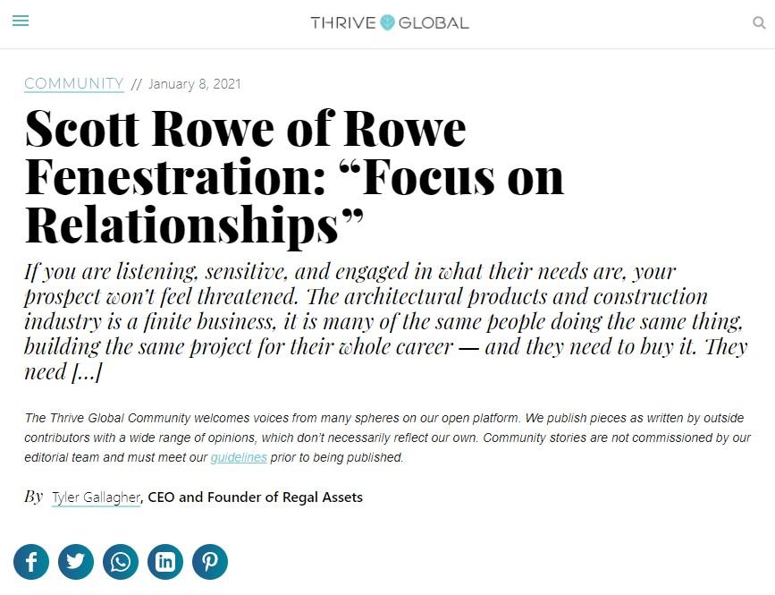 Rowe Fenestration | GlasPro